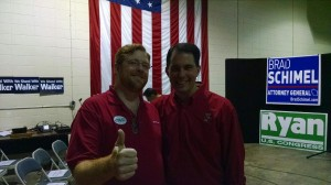 Me and the Gov. at a rally.